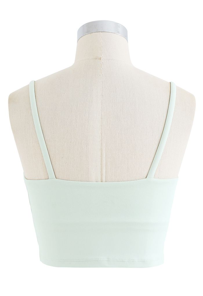 Crossover Ruched Low-Impact Sports Bra in Mint