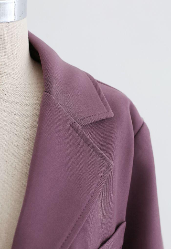 Basic Pockets Blazer in Plum