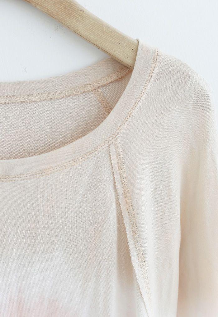 Gradient Tie Dye Long Sleeves Sweatshirt