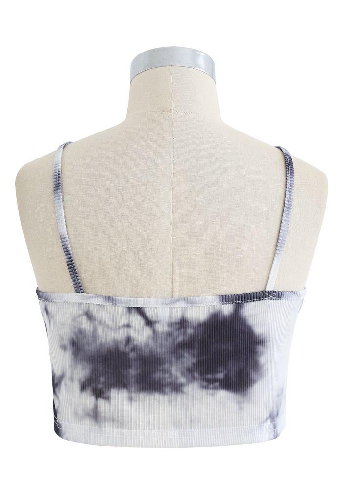 Tie-Dye Crop Tank Top in Ink