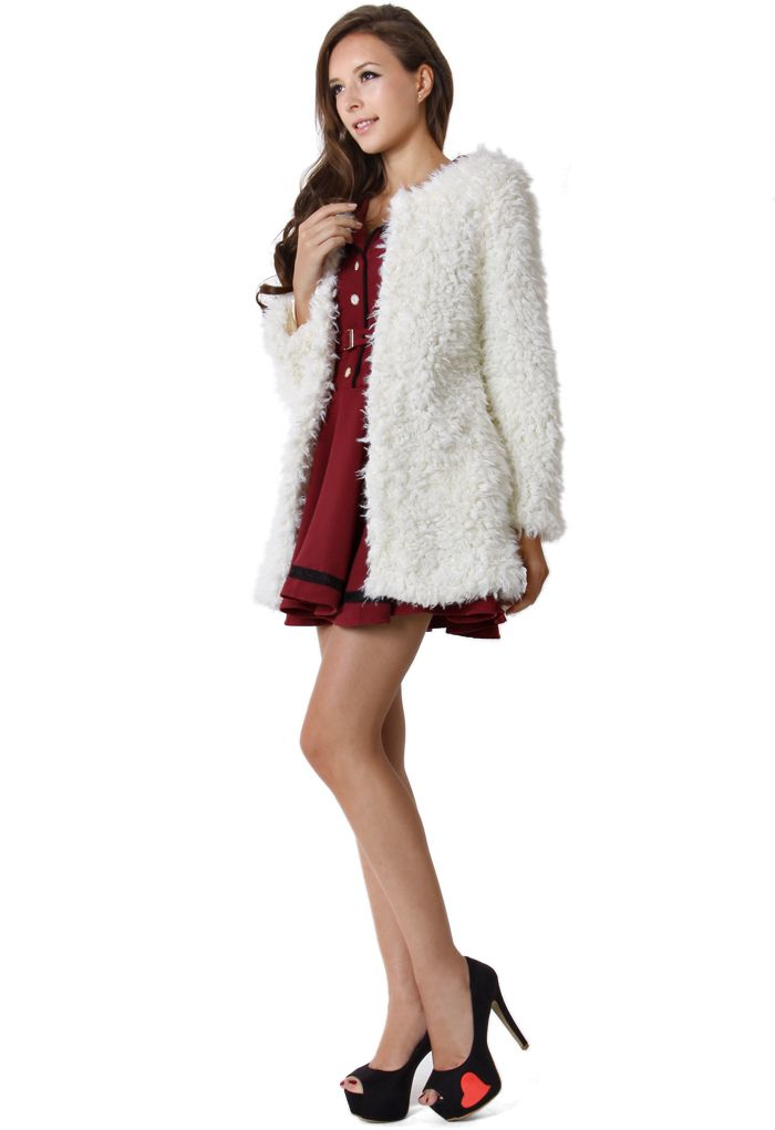 Faux Fur Duffle Coat
