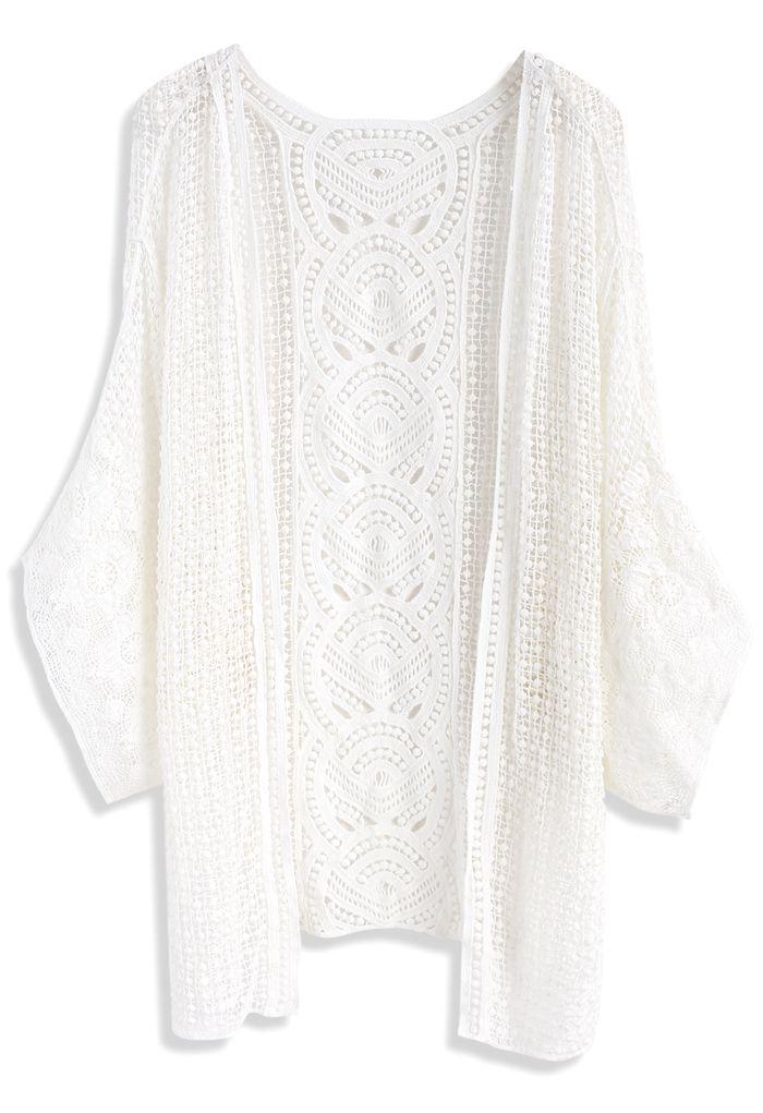 Found My Gladness Knit Cardigan in White