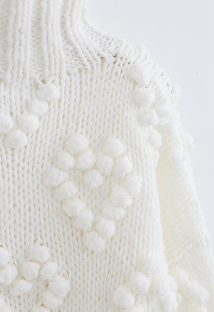 Knit Your Love Turtleneck Sweater in White