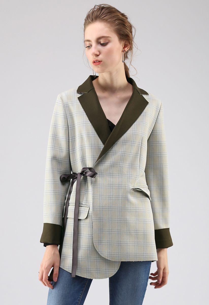 Extraordinary Wrap Check Blazer