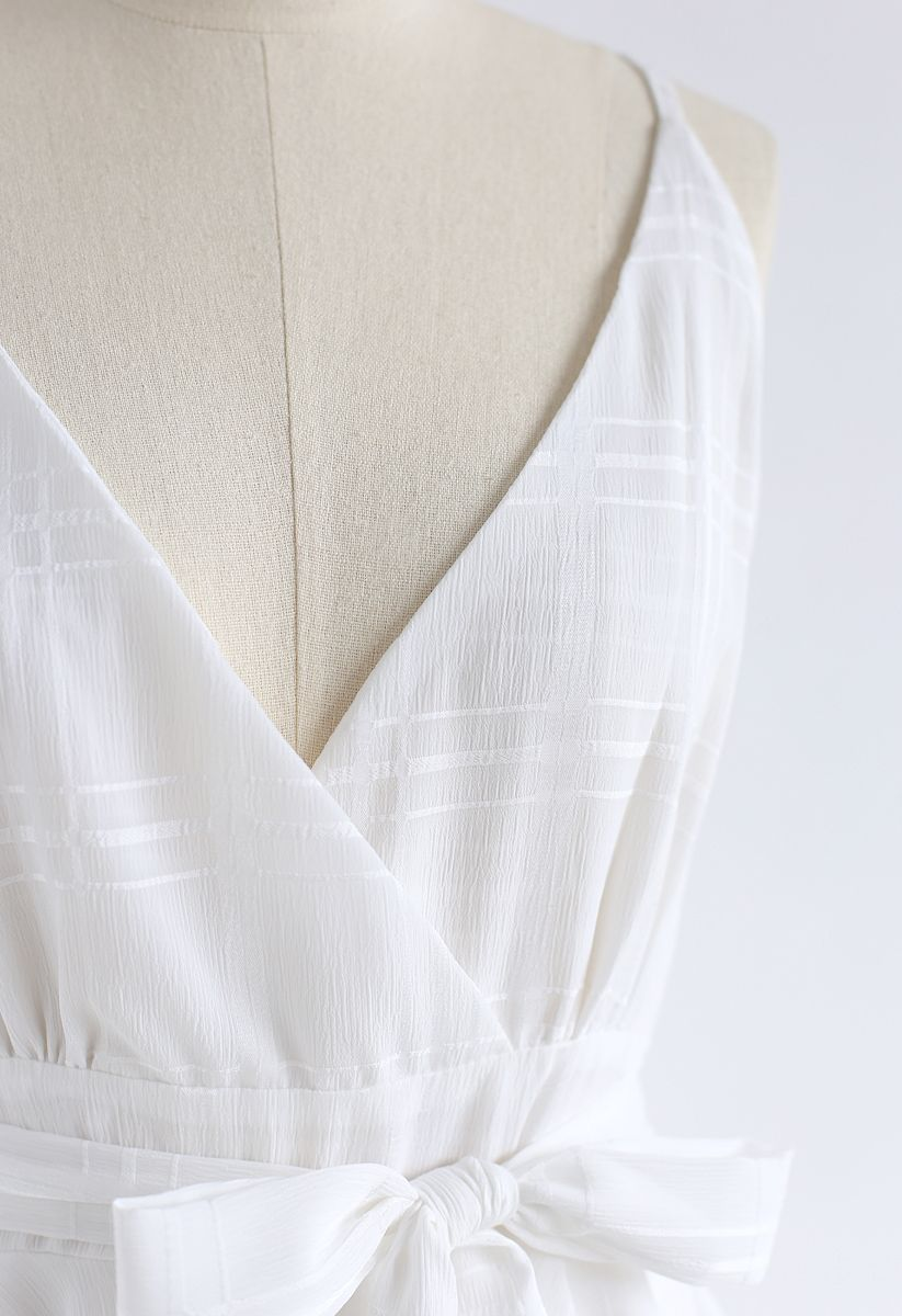 Dare To Dream Cross Back Cami Mini Dress in White