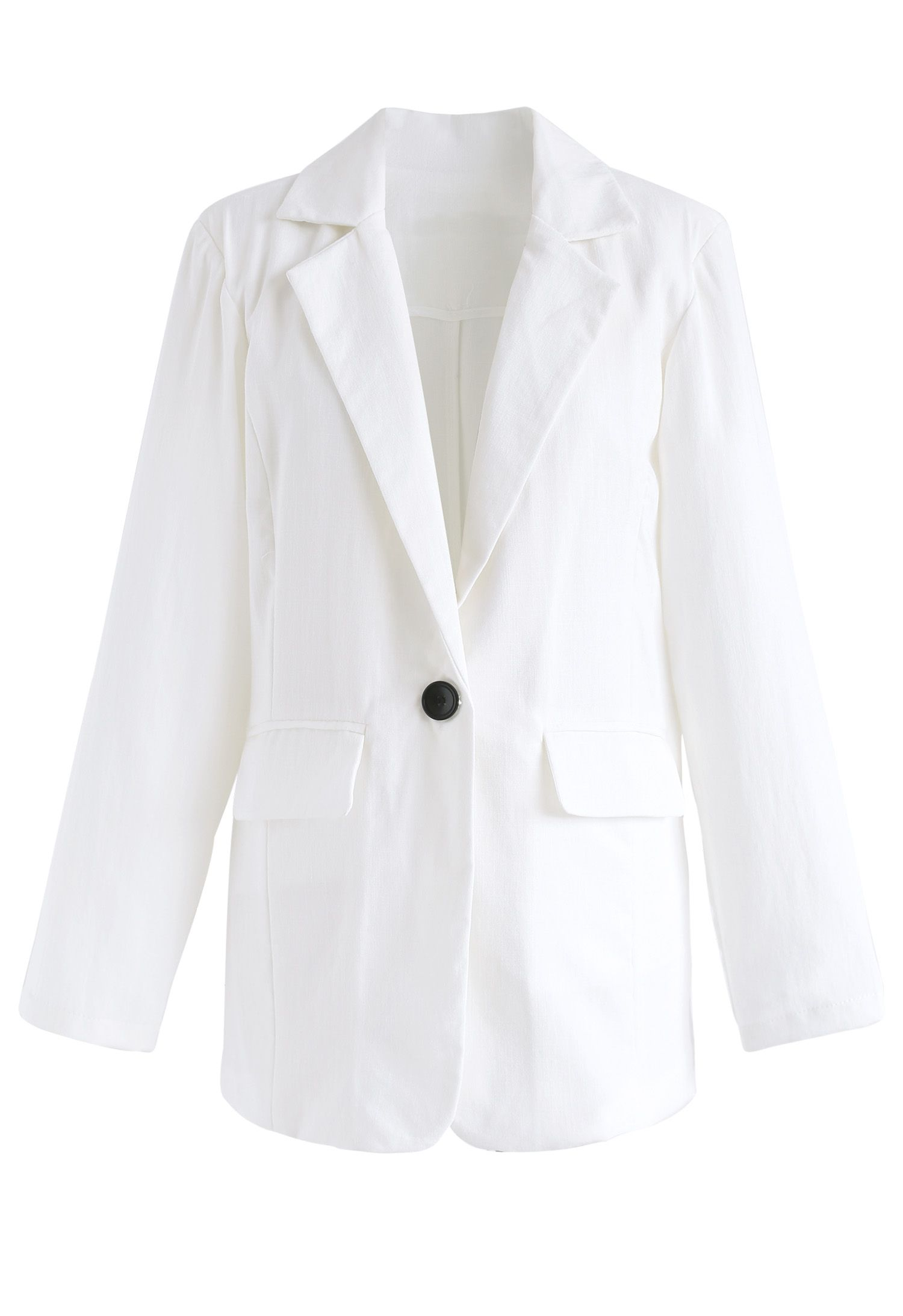 Just Like This Frontline Blazer in White