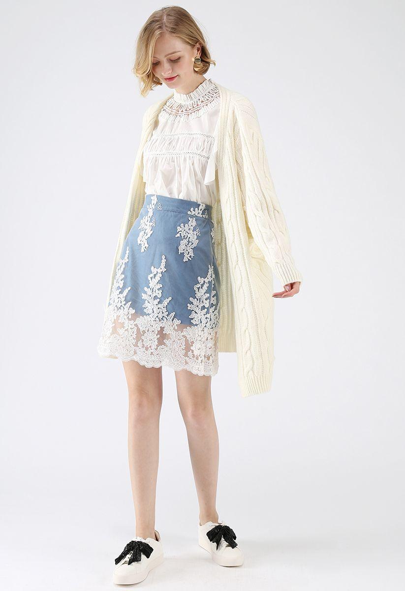 Warmest Hug Cable Knit Longline Cardigan in Ivory