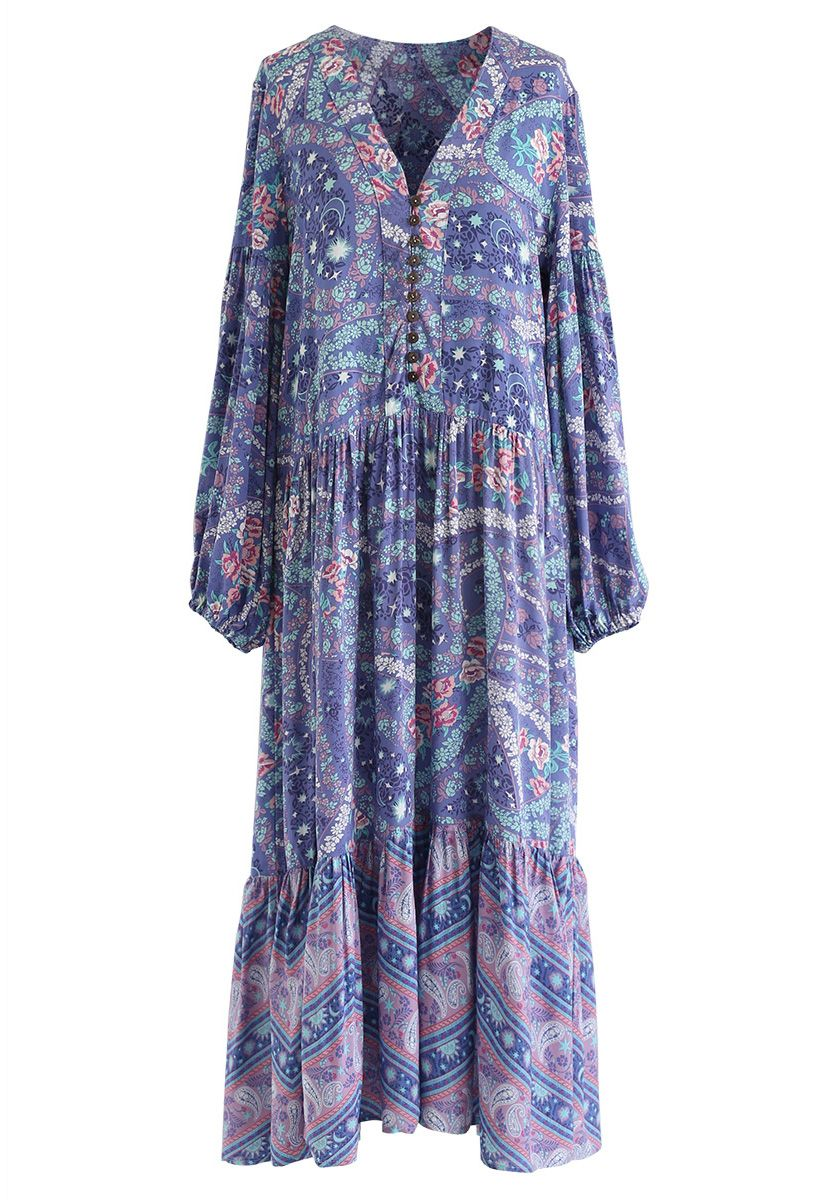 See It in Your Eyes Boho V-Neck Maxi Dress
