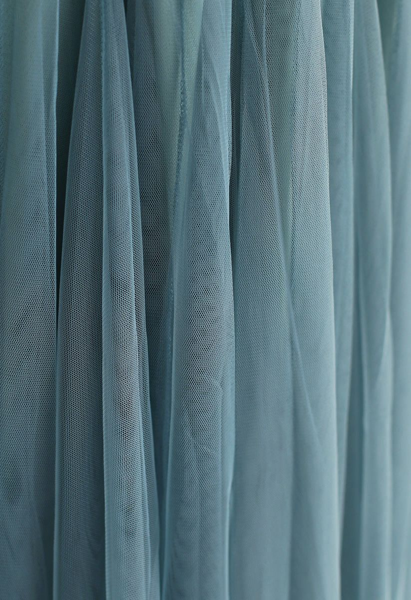 My Secret Weapon Tulle Maxi Skirt in Turquoise