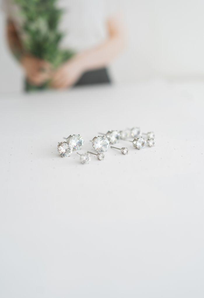 6-Pack Diamante Earrings