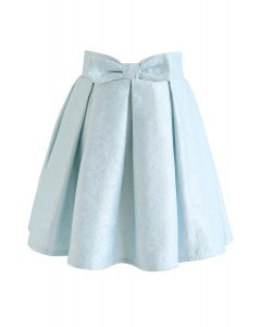 Sweet Your Heart Jacquard Skirt in Baby Blue