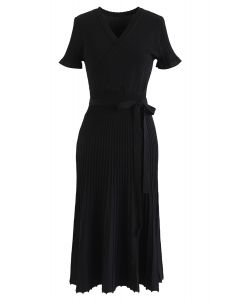 Effortless Charming Knit Dress in Black