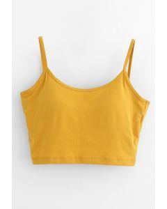 Twist Back Cami Bra Top in Mustard