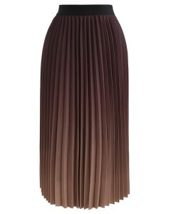 Nightfall Gradient Pleated Midi Skirt
