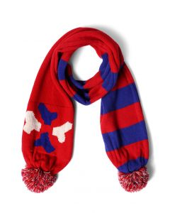 Merrymaking Moment Pom-Pom Knit Scarf