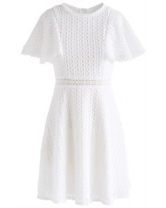 Crochet Me Grace Mini Dress in White