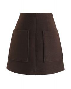 Pocket of Charm Mini Skirt in Brown
