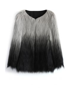 Super Star Dip Dyed Faux Fur Coat
